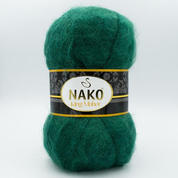 Пряжа Nako King Moher 11288 зеленый
