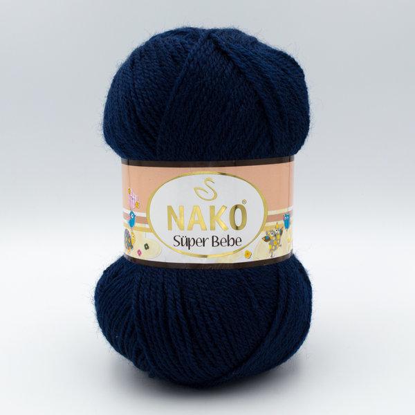 Пряжа Nako Super Bebe 10094 темно-синий