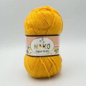 Пряжа Nako Super Bebe 3810 горчично-желтый