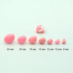 Нос для игрушек гладкий треугольный розовый
