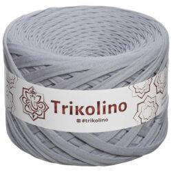 Пряжа трикотажная Trikolino 100м 7-9мм Серебристый Серый 420278
