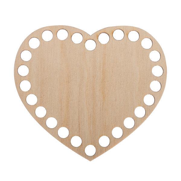 Донышко из фанеры Сердце 10.x11 см