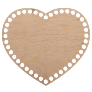 Донышко из фанеры Сердце 15×17 см