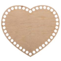 Донышко из фанеры Сердце 20×22.5 см