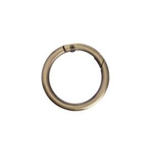 Кольцо-карабин 3.5 см бронза