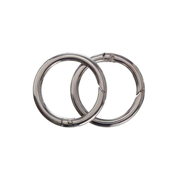 Кольцо-карабин 3.5 см серебро