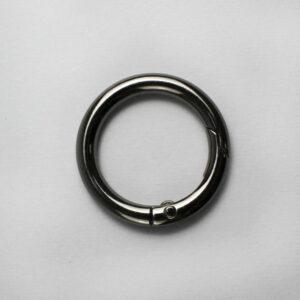 Кольцо-карабин 3.5 см черный металлик