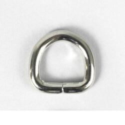 Полукольцо 2.8 см серебро