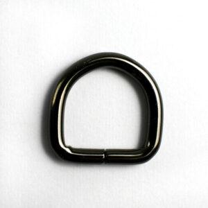 Полукольцо 2.8 см черный металлик