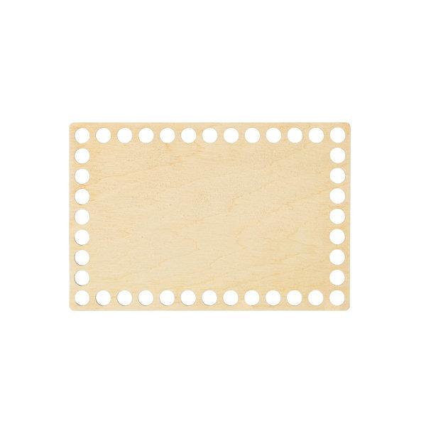 Донышко из фанеры прямоугольное 10×15 см