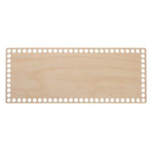 Донышко из фанеры прямоугольное 12×30 см