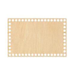 Донышко из фанеры прямоугольное 13×20 см