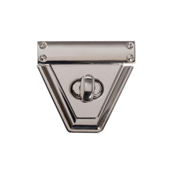 Замок для сумки поворотный 5 см трапеция серебро