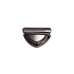 Замок для сумки клавишный 5 см треугольный черный металлик