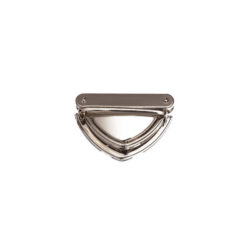 Замок для сумки клавишный 5 см треугольный серебро