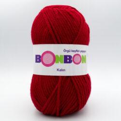 Пряжа Nako Bonbon Kalin 98237 темно-красный