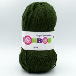 Пряжа Nako Bonbon Kalin 98579 темно-зеленый