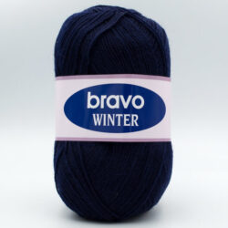 Пряжа Bravo Winter 15 темно-синий