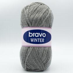 Пряжа Bravo Winter 9021 серый
