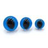 Глазки для игрушек Кошка Рептилия голубые