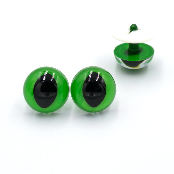 Глазки для игрушек Кошка Рептилия зеленые