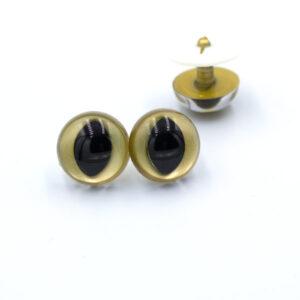 Глазки для игрушек Кошка Рептилия золотые
