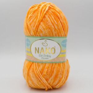 Пряжа Nako Elit Baby Muare 31766 оранжевый
