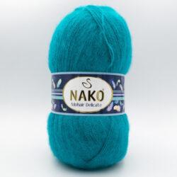 Пряжа Nako Mohair Delicate 6143 бирюза зеленая