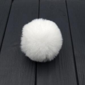 Помпон меховой 8 см белый