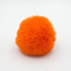 Помпон меховой 8 см оранжевый