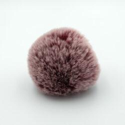Помпон меховой 8 см бордо снежный