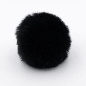 Помпон меховой 8 см черный