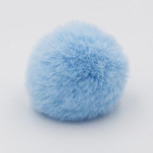 Помпон меховой 8 см голубой