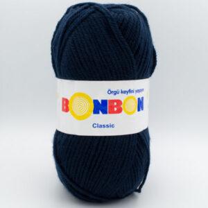 Пряжа Nako Bonbon Classic 98207 темно-синий