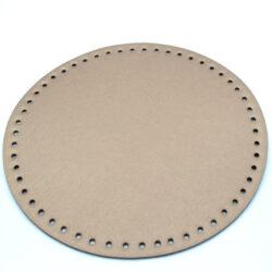 Донышко для сумки круглое экокожа d 22 см бронза