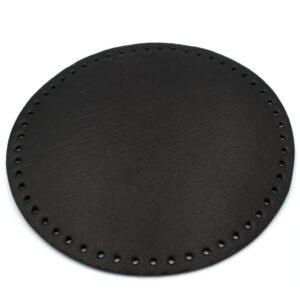 Донышко для сумки круглое экокожа d 22 см черное