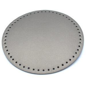 Донышко для сумки круглое экокожа d 22 см металлик