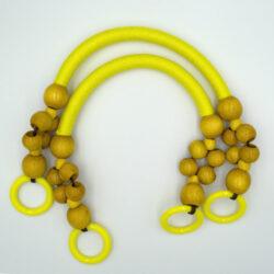 Комплект ручек для сумки Веста желтый