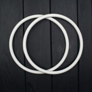 Комплект ручек пластиковых круглых 15 см белые