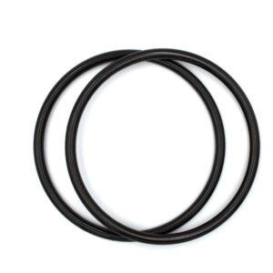 Комплект ручек пластиковых круглых 15 см черные