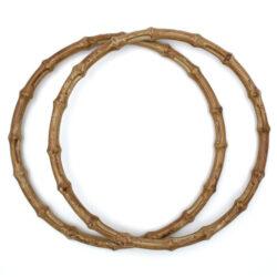Комплект ручек пластиковых круглых бамбук 20 см капучино