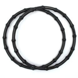 Комплект ручек пластиковых круглых бамбук 20 см черные