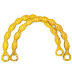 Комплект ручек для сумки полукруглых Косичка 23 см желтый