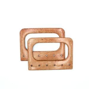 Комплект ручек для сумки прямоугольных Винтаж 14 см капучино