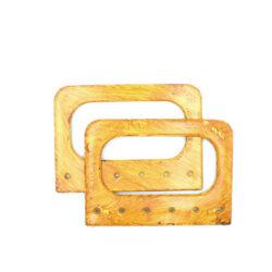 Комплект ручек для сумки прямоугольных Винтаж 14 см охра