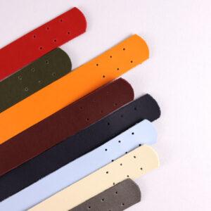 Комплект ручек пришивных экокожа оранжевый 69-2.7 см