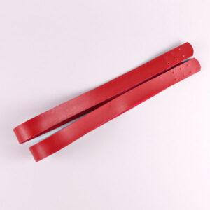 Комплект ручек пришивных экокожа красный 69-2.7 см