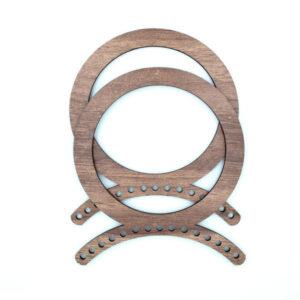 Ручки для сумки деревянные круглые 14 см