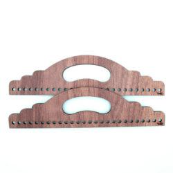 Ручки для сумки деревянные полукруглые 25 см