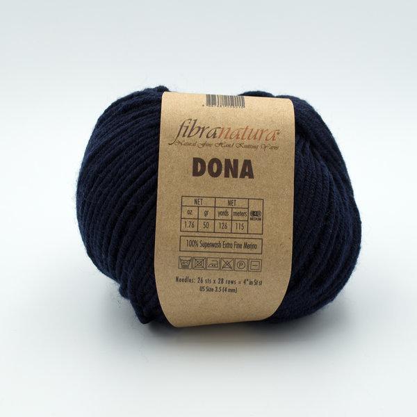 Пряжа Fibranatura Dona 106-24 чернильно-синий